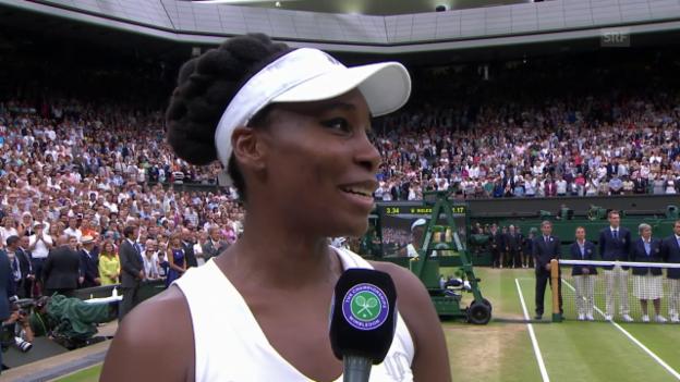 Video «Venus Williams im Interview nach der Final-Niederlage (engl.)» abspielen