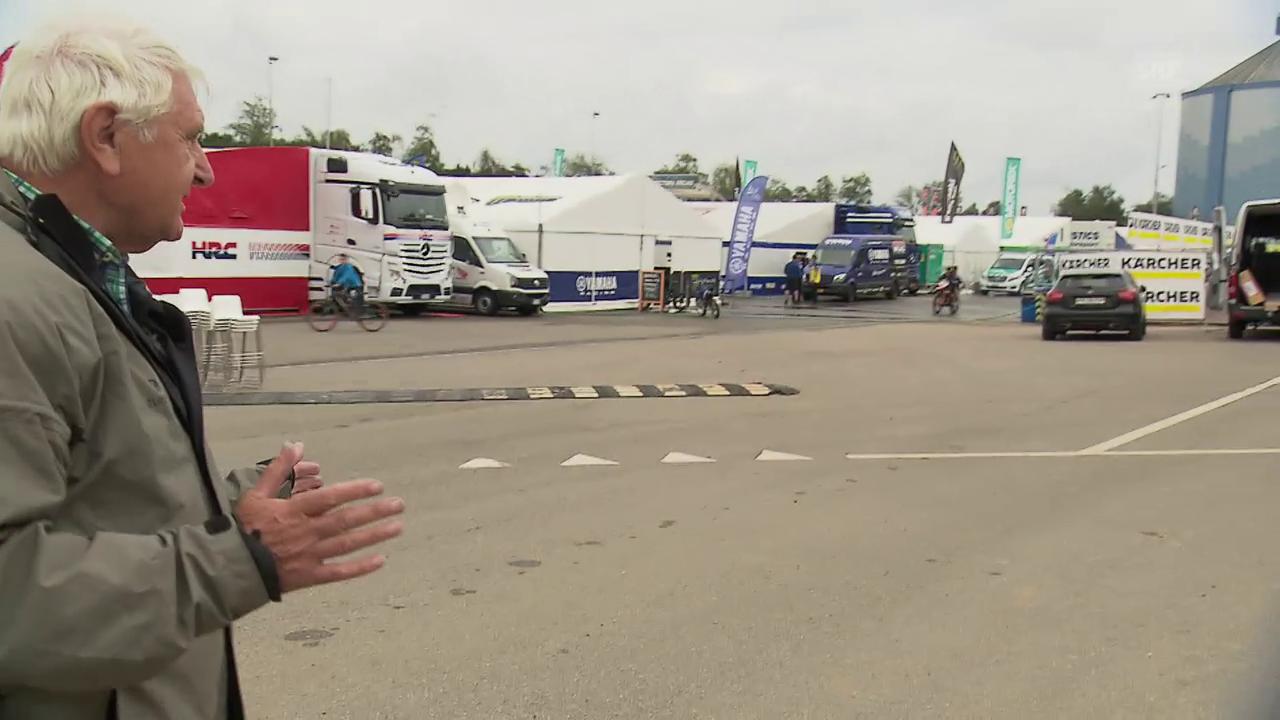 Ein Rundgang im Motocross-Fahrerlager mit OK-Präsident Willy Läderach