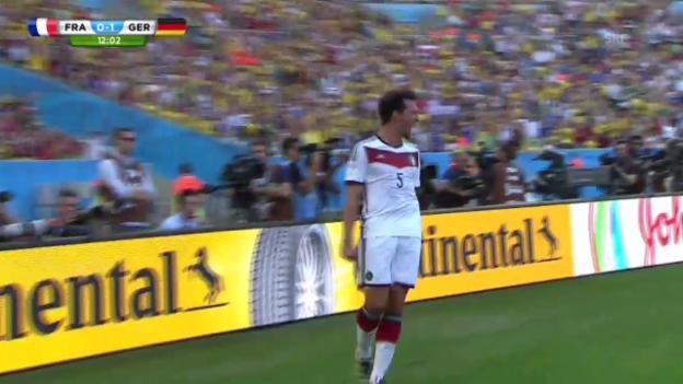 Video «FIFA WM 2014: Deutschland - Frankreich, Tor von Hummels» abspielen