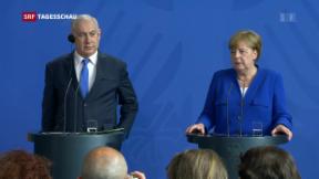 Video «Netanjahu und Merkel bei Iran-Kurs uneins» abspielen