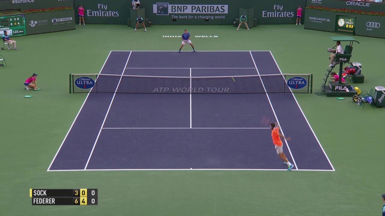 Tennis: Indian Wells, Federer - Sock