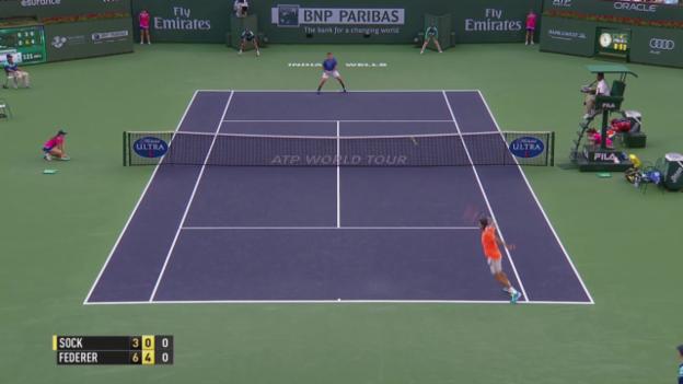 Video «Tennis: Indian Wells, Federer - Sock» abspielen