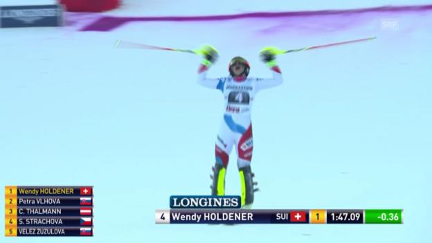 Video «Ski: Weltcup Frauen, Slalom Lienz» abspielen