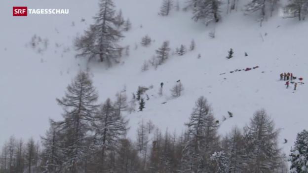 Video «Tödliches Lawinenunglück im Wallis» abspielen