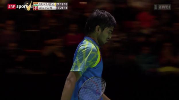Video «Badminton: Swiss Open in Basel, Final» abspielen