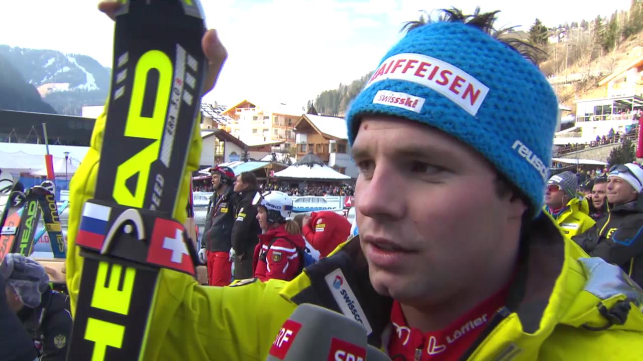 Ski Alpin: Abfahrt Männer in Gröden, Interview mit Feuz («sportlive», 21.12.2013)