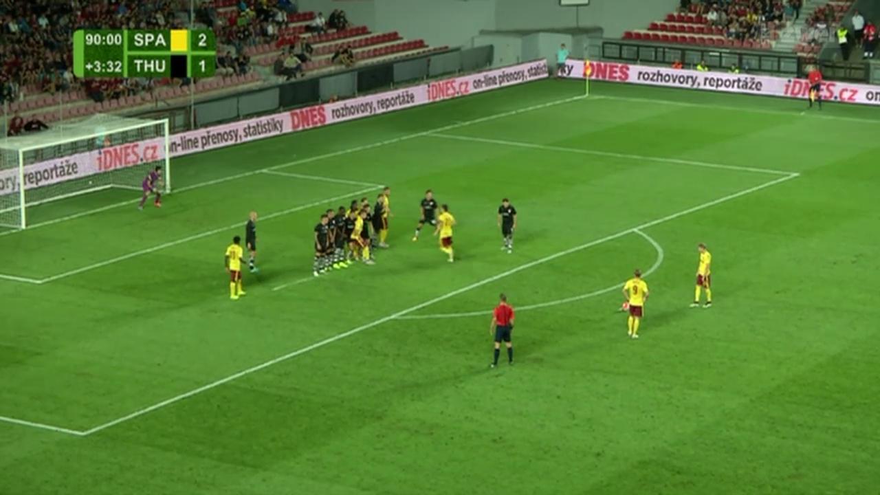 Fussball: Europa League, Sparta Prag - Thun