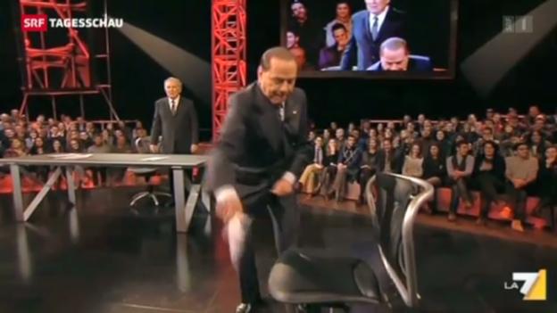 Video «Berlusconi punktet im Wahlkampf mit Klamauk» abspielen