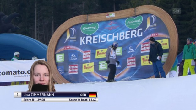 Video «Freeski: Freestyle-WM – Slopestyle Siegeslauf Lisa Zimmermann (De)» abspielen