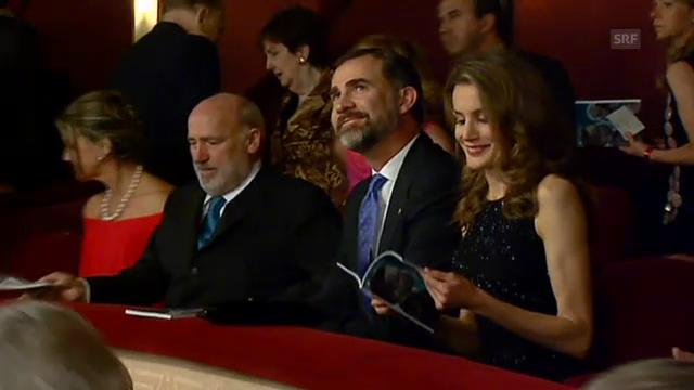 Kronprinz Felipe und Prinzessin Letizia in der Oper in Barcelona