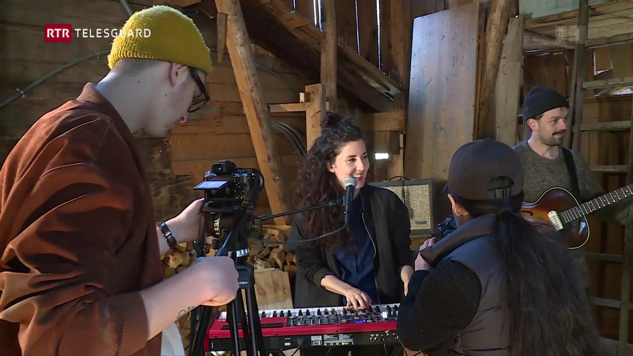 Registrà video clip cun Ursina a Disla