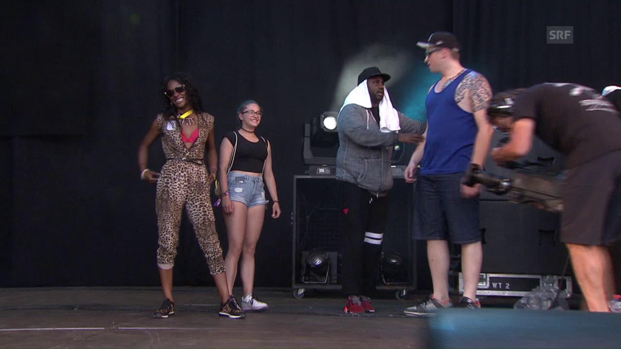 Ghostface Killah holt Zuschauer für «Protect Ya Neck» auf die Bühne