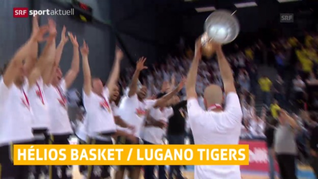 Video «Basketball: Lugano und Hélios Valais holen den Cup» abspielen