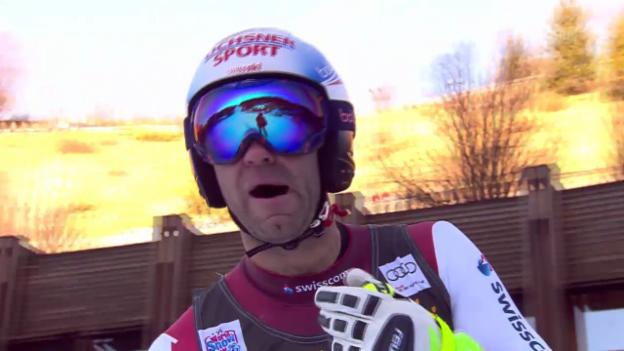 Video «Ski alpin: Super-G in Gröden, Didier Défago» abspielen