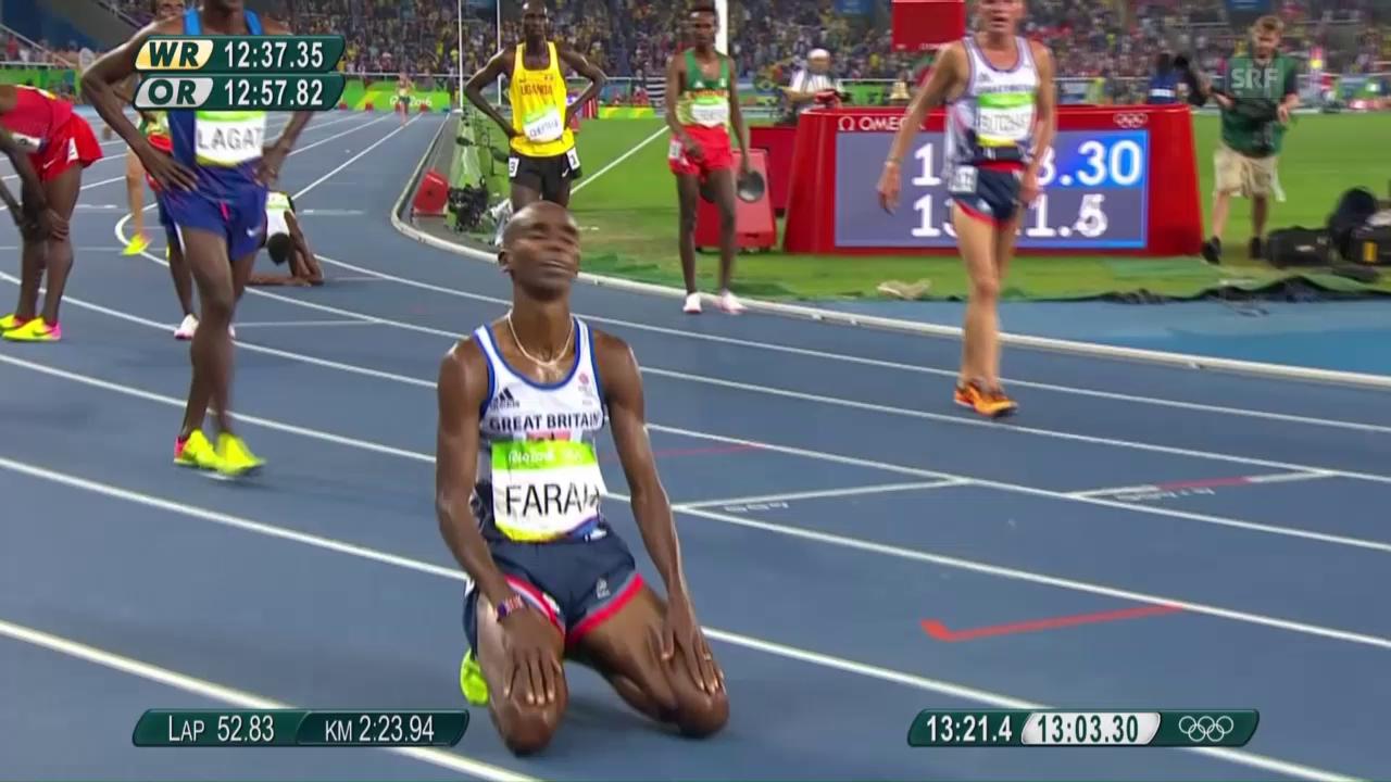 Mo Farah holt Gold über 5000 m