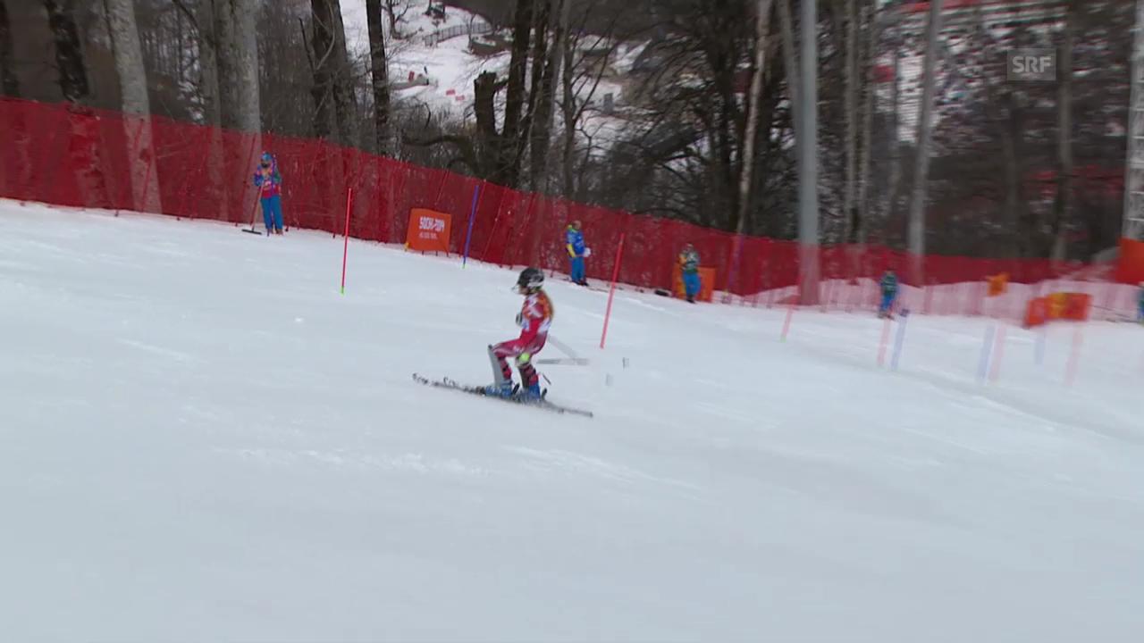Ski: Kombi-Slalom Frauen, Fahrt Lara Gut (sotschi direkt, 10.2.2014)