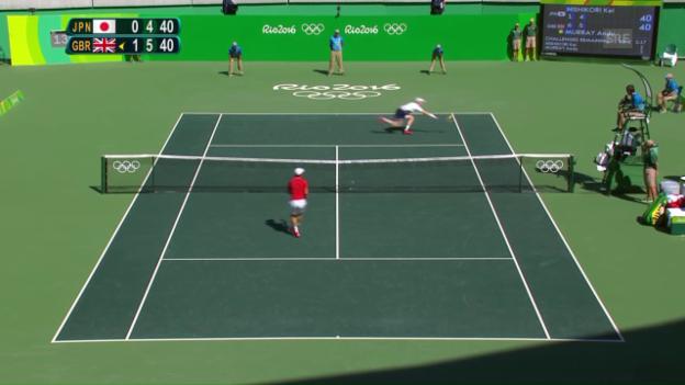 Video «Murray mit Wahnsinnspunkt zum Matchball» abspielen