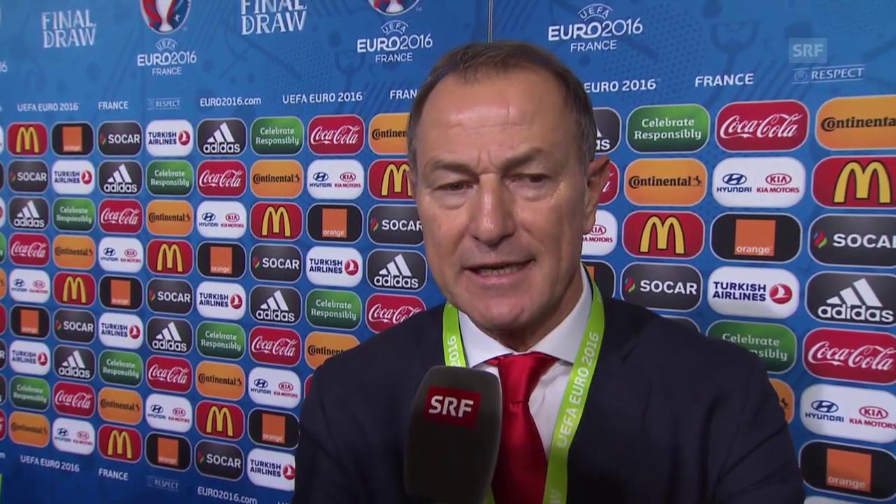 Fussball: EM-Auslosung, Reaktion Albanien-Coach De Biasi