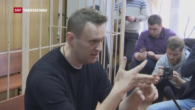 Video «Russischer Oppositionsführer Nawalny verhaftet» abspielen