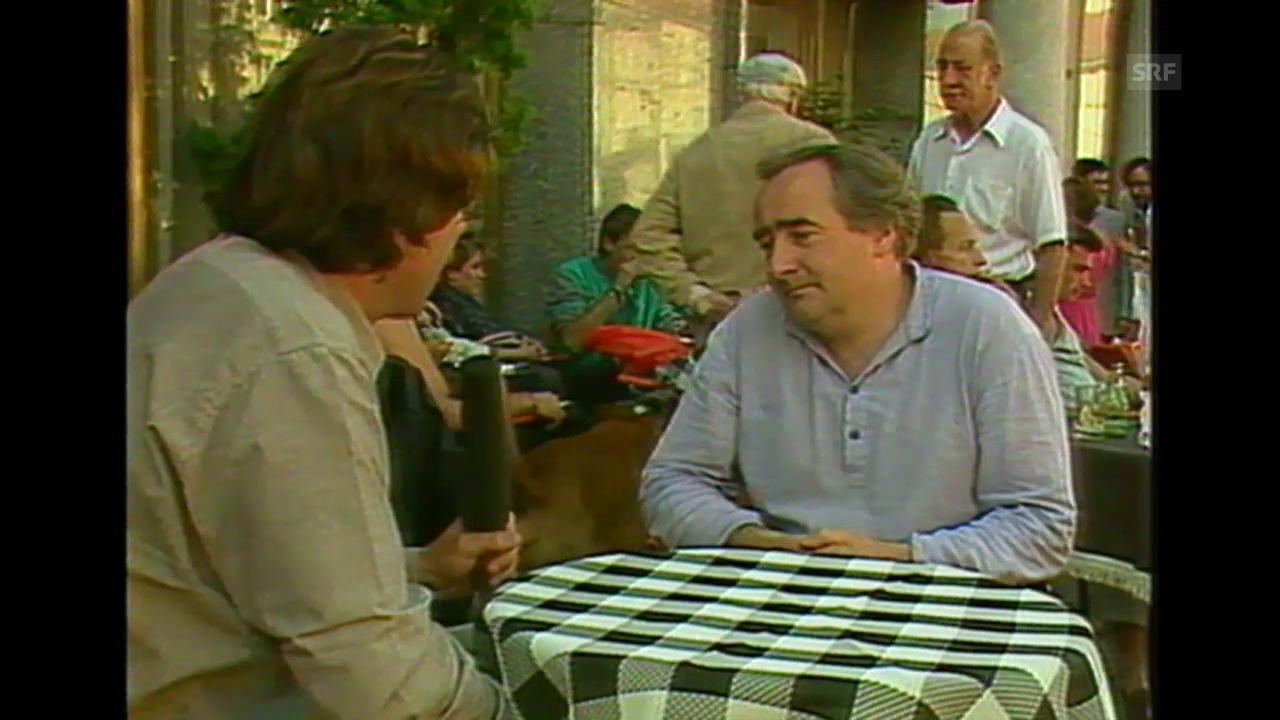 Fredi M. Murer über seinen Erfolg (Kamera läuft, 18.8.1985)