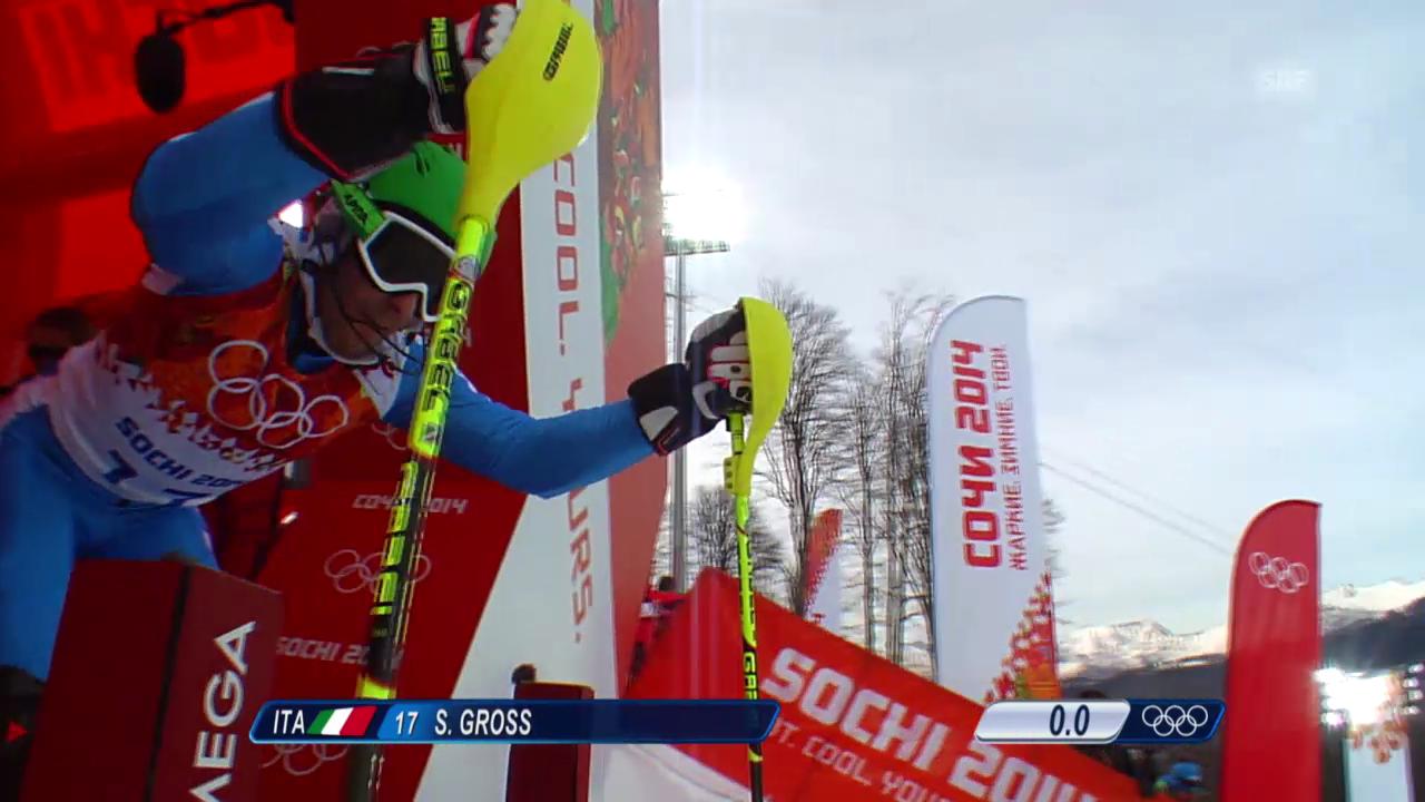 Ski Alpin: Slalom der Männer, 1. Lauf von Stefano Gross (sotschi direkt, 22.2.2014)