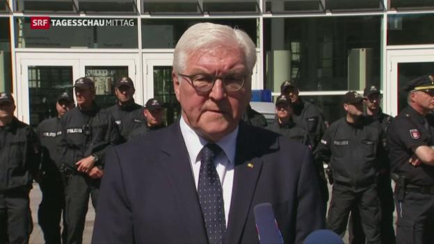 Video «Bundespräsident Steinmeier besucht Hamburg» abspielen