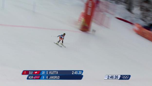 Video «Ski, Kombinations-Slalom, Fahrt Jansrud (sotschi direkt, 14.02.14)» abspielen