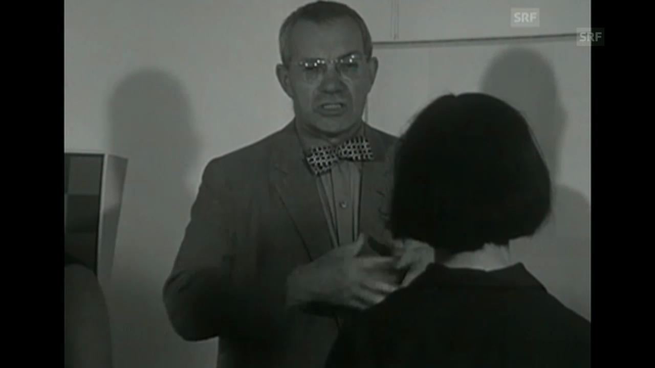 Max Bill erklärt Schülern seine Kunst», «Antenne» vom 25.8.1965