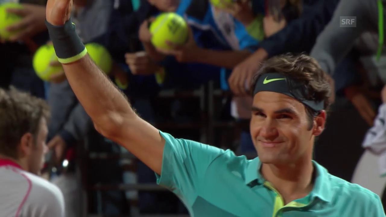 Tennis: ATP Rom, Halbfinal, Federer - Wawrinka