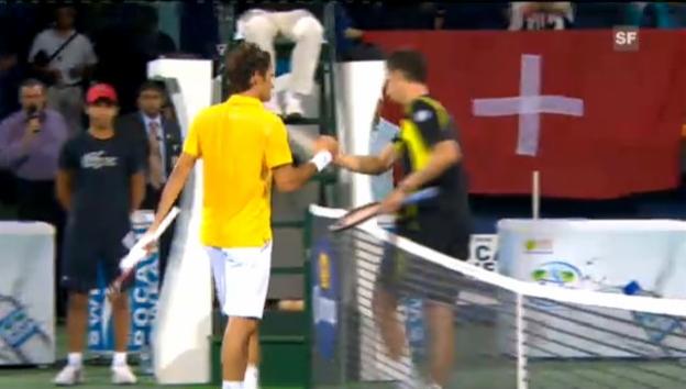 Video «ATP Dubai: Viertelfinal Federer - Stachowski» abspielen
