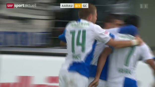 Video «Fussball: Super League, Aarau - GC» abspielen