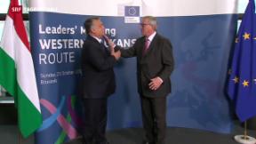 Video «Flüchtlingskrise: Juncker drängt zum Handeln» abspielen