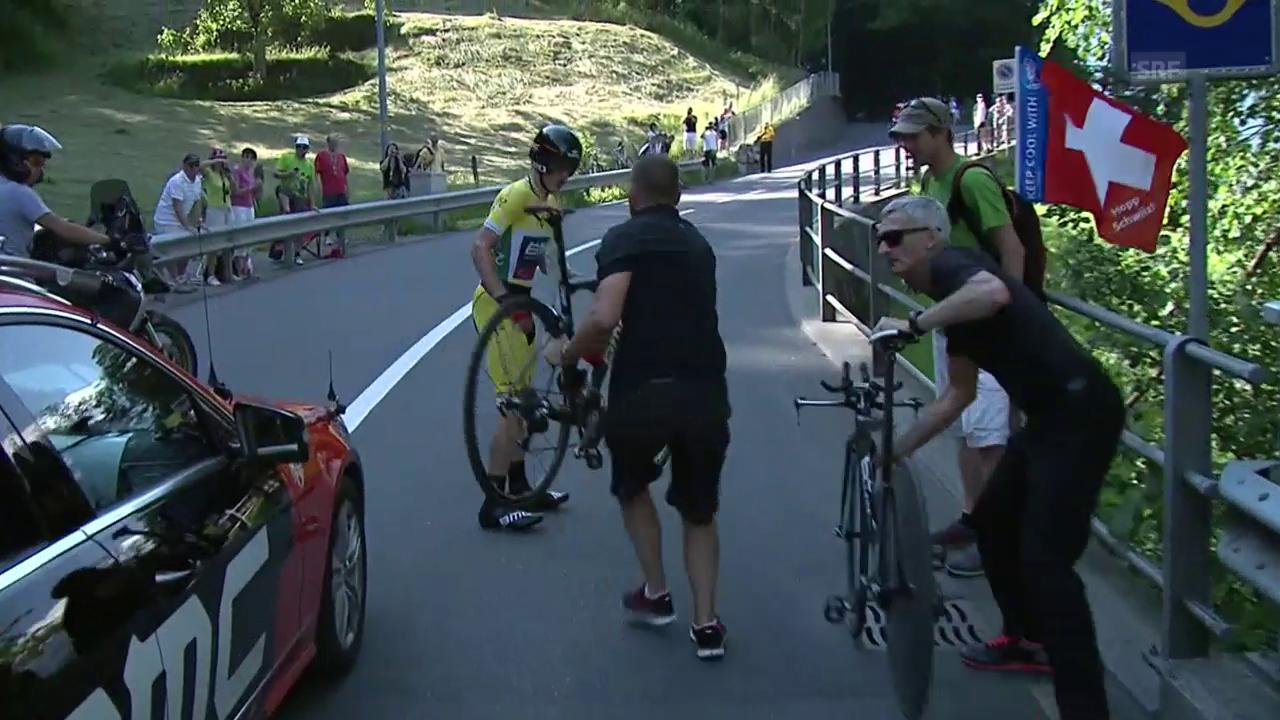 TdS 2013: Mathias Frank wechselt sein Rad