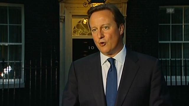 David Cameron über das Baby
