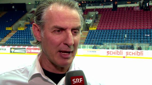 Video «Eishockey: Interview mit Kloten-Trainer Felix Hollenstein» abspielen