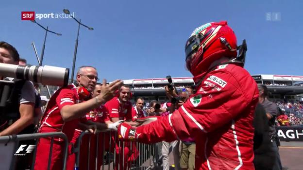 Video «Räikkönen vor Vettel – Hamilton ausgebremst» abspielen
