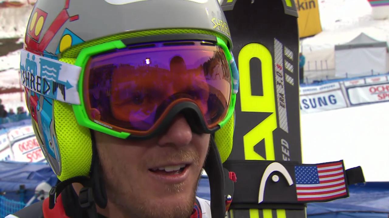Ski: Weltcup der Männer, Riesenslalom Lenzerheide, Interview mit Ted Ligety («sportlive, 15.03.2014)