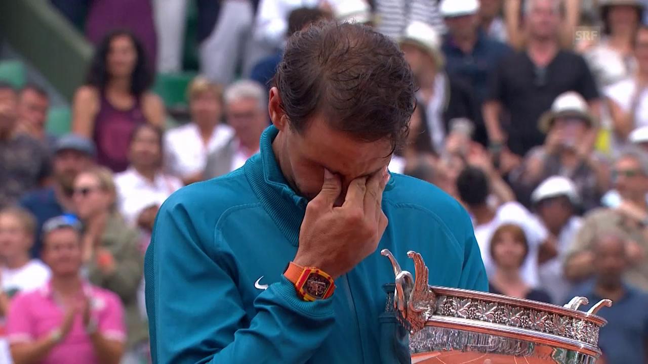 Nadal zu Tränen gerührt