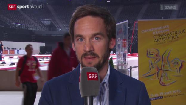 Video «Kunstturnen EM 2015: Roman Schweizer über Steingrubers Erfolg» abspielen