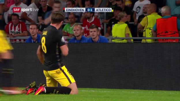 Video «Atletico gegen PSV im Glück» abspielen