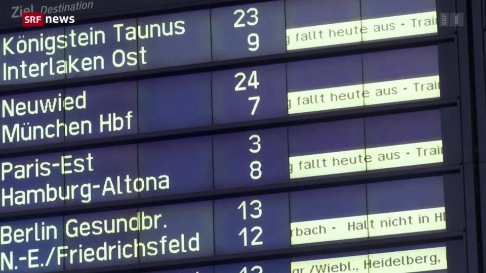 Archiv: Streik bei der Deutschen Bahn