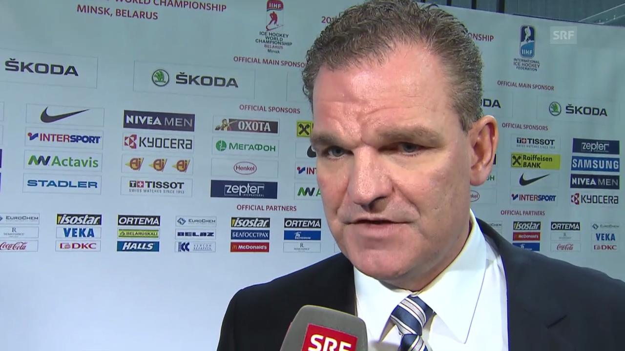 Eishockey: WM 2014, Vorrunde, Schweiz-Deutschland, Interview mit Sean Simpson