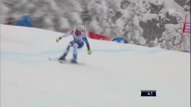 Video «Ski alpin: Abfahrt Garmisch, Fahrt Didier Défago» abspielen