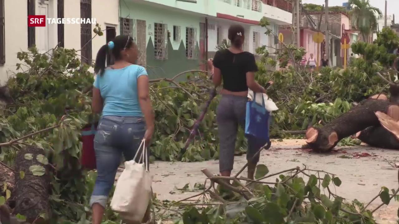 Schwere Schäden wegen Hurrikan