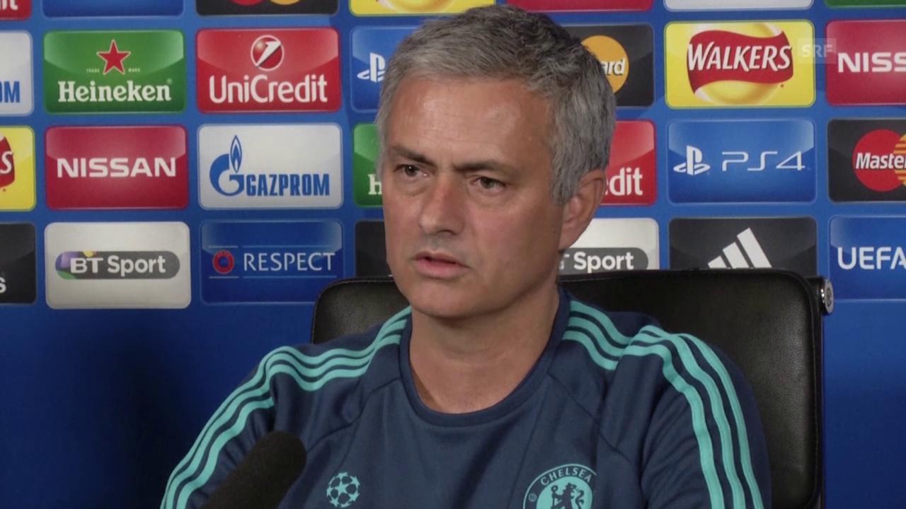 Fussball: Champions League, Chelsea-Trainer Jose Mourinho vor dem CL-Spiel gegen Kiew (englisch, SNTV)