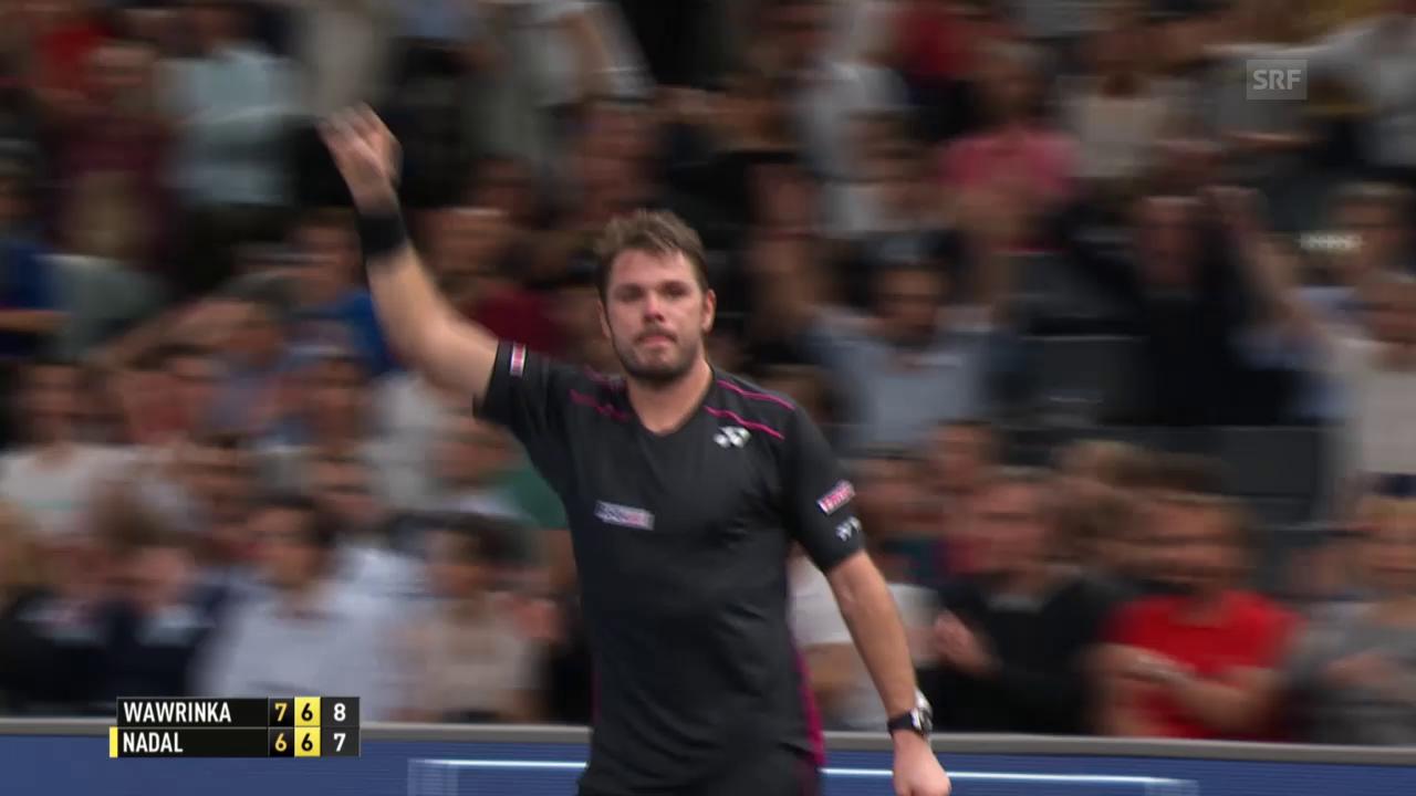 Tennis: ATP-1000-Paris: Wawrinka-Nadal
