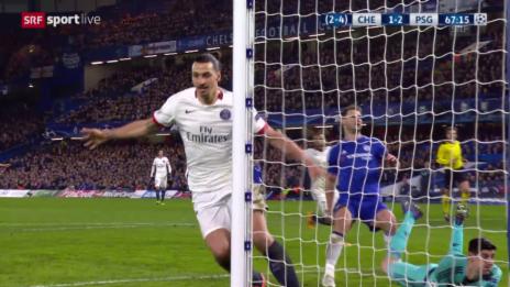 Video «Ibrahimovic verwertet Di Marias mustergültiges Zuspiel» abspielen