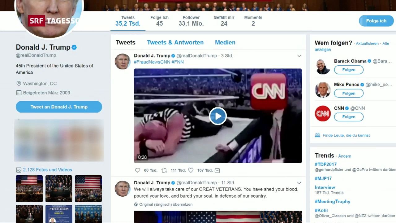 Trump verprügelt «CNN» in Video