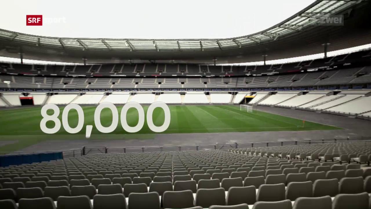 Die Spielstätte Stade de France im Fokus
