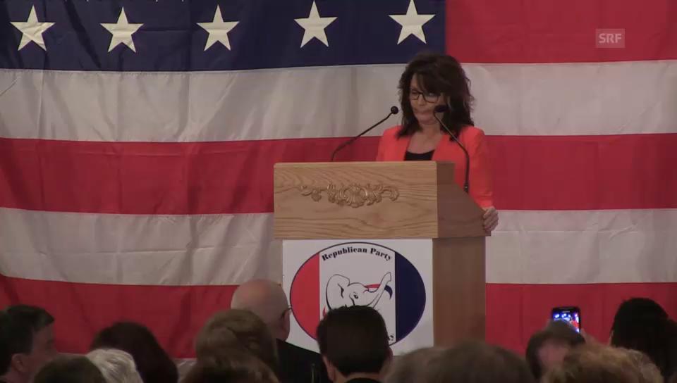 Palin rührt die Werbetrommel für Donald Trump